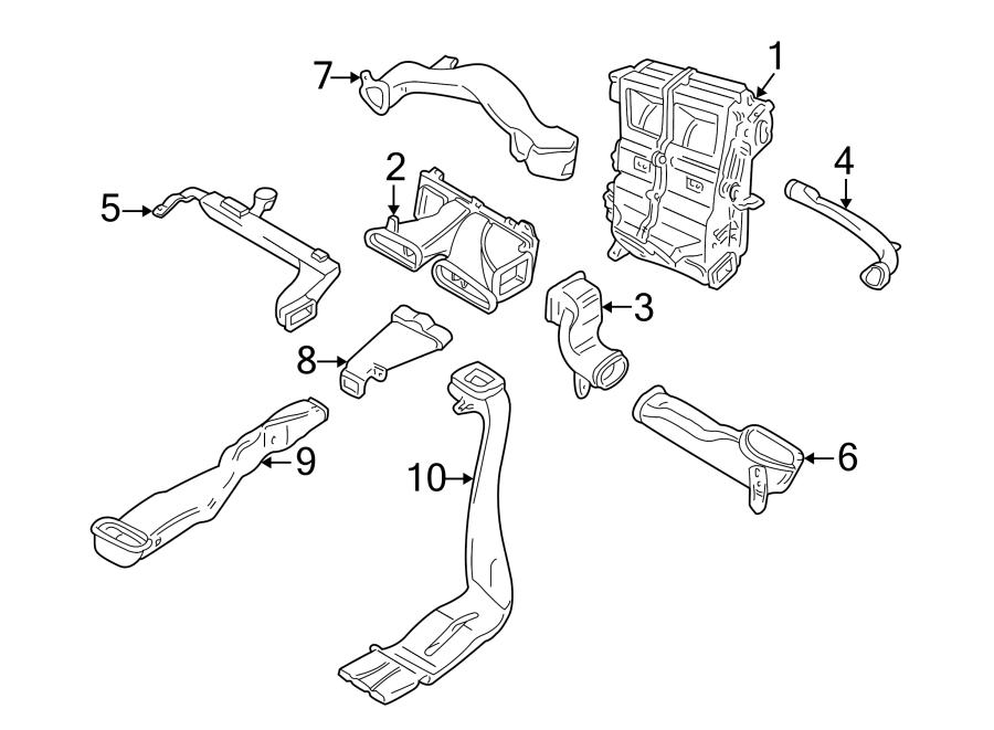 Jaguar S-Type Instrument Panel Air Duct. 2000-02. Ducts
