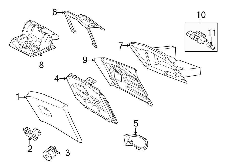 Jaguar S-Type Glove Box Lock Kit. Lock cylinder. 2000-02