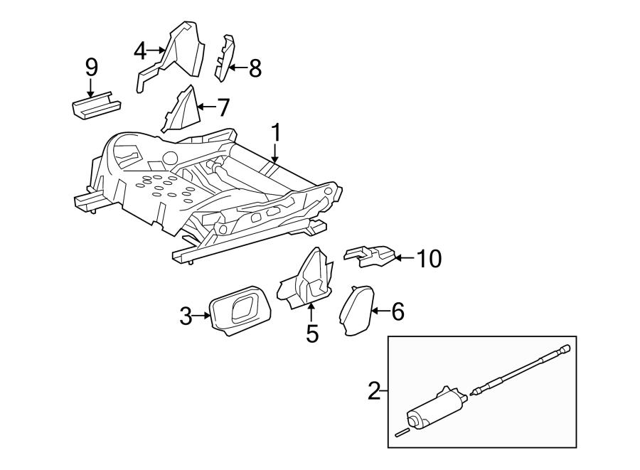Jaguar S-Type Seat Track (Lower). 2003-08, 8 way adjust, w