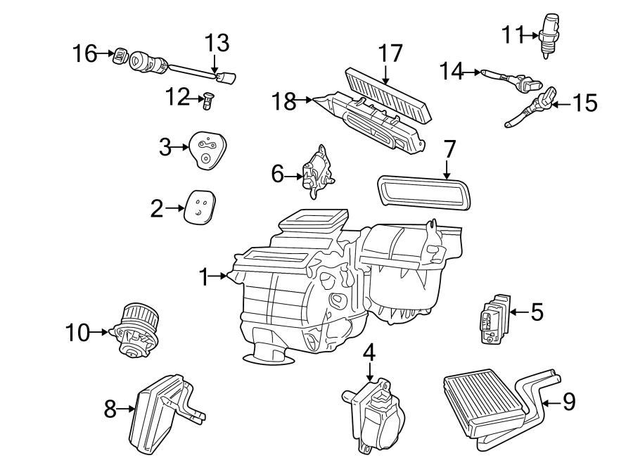 2005 Jaguar X-Type Air temp sensor. Sensor. Heater
