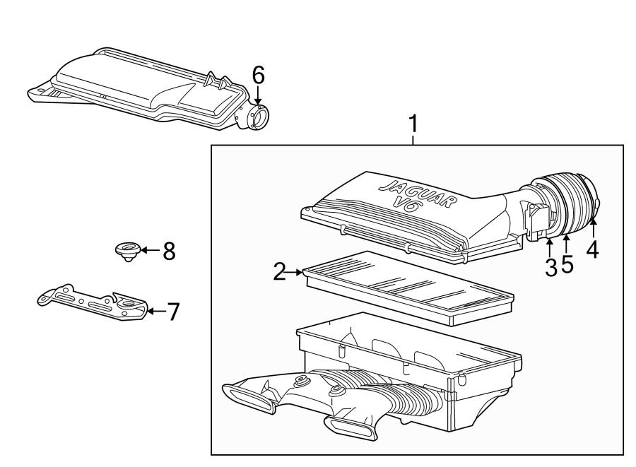Jaguar X-Type Engine Air Intake Hose. Air tube. AirCLEANER