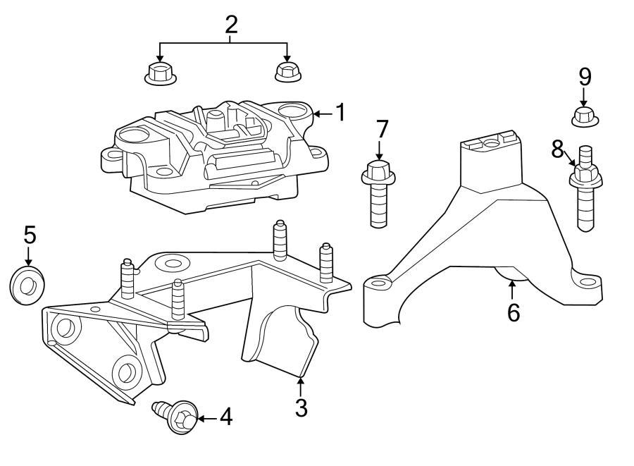 Jaguar X-Type Housing. Manual Transmission Mount Bracket