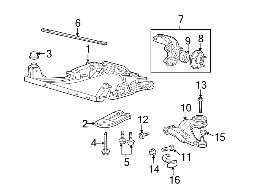 Jaguar X-Type Suspension Subframe Crossmember (Front