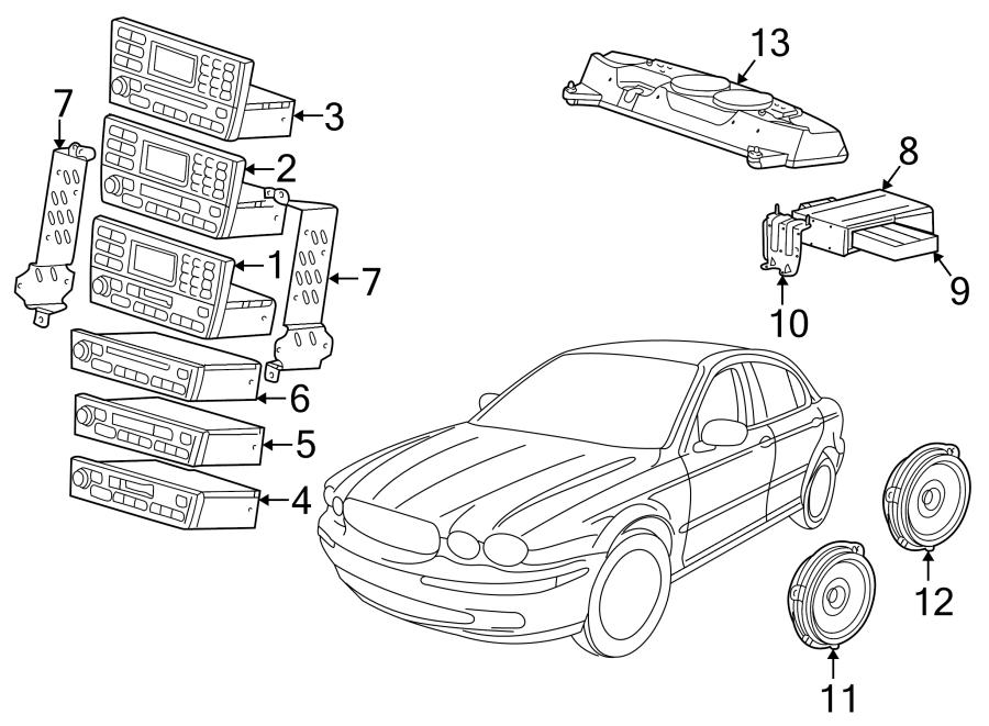 Jaguar X-Type Speaker (Front, Rear). 2002-03, TO VIN
