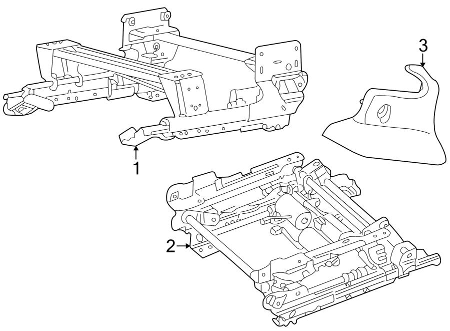 Jaguar X-Type Seat. Adjuster. Frame. SLIDE. Track ASSEMBLY