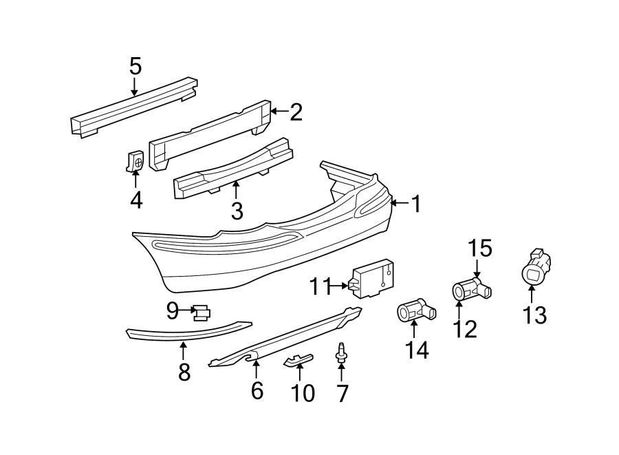 Jaguar X-Type Parking Aid Sensor Bracket. REVERSE SENSING