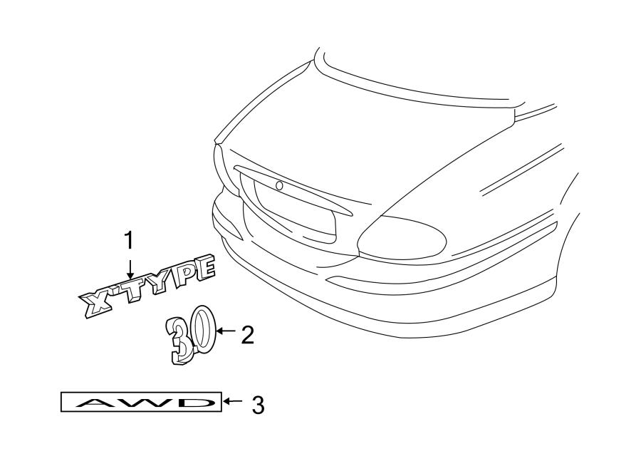 Jaguar X-Type Hatch Emblem. SPORTWAGON, 3.0. Nameplate