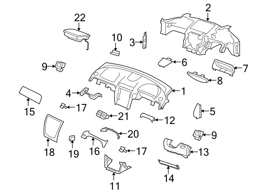 Jaguar XK Instrument Panel Knee Bolster Bracket