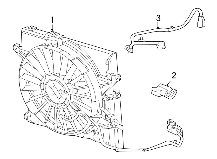 Jaguar XF Engine Cooling Fan Assembly. RADIATOR, Motor