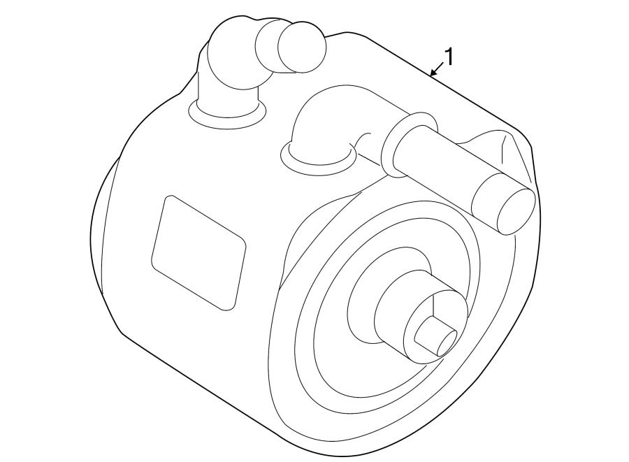 Jaguar XF Engine Oil Cooler. SUPERCHARGER, LITER, Heat