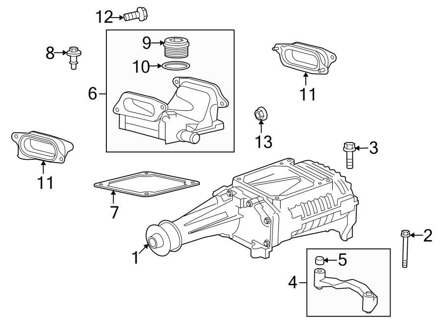 Jaguar Super V8 Connector plate. Supercharger Gasket