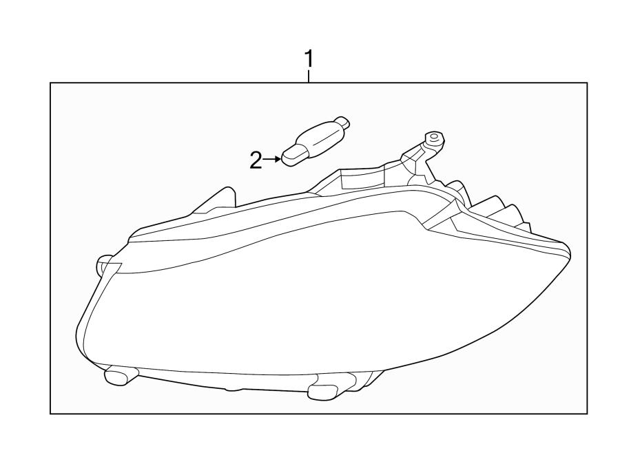 Jaguar XF Headlight Assembly. 2012-15, w/o adaptive. XF