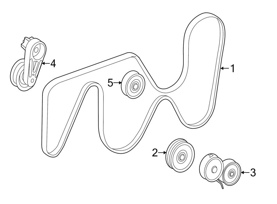 Jaguar XF Accessory Drive Belt Tensioner Assembly. LITER