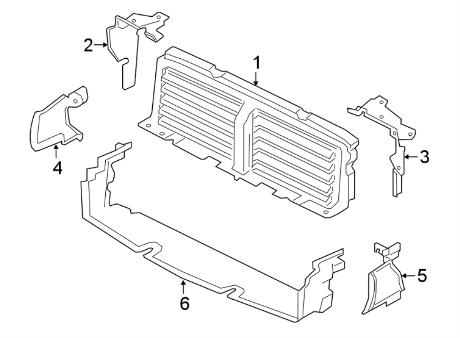 Jaguar XF Radiator Shutter Assembly. COMPONENTS, LITER