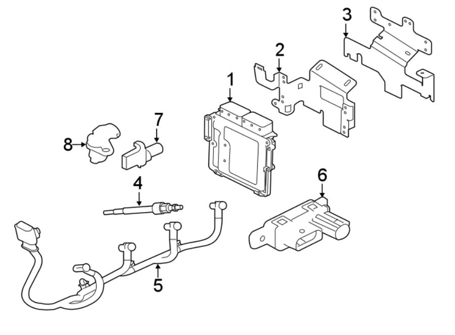 Jaguar XF Control module. Diesel Glow Plug Controller