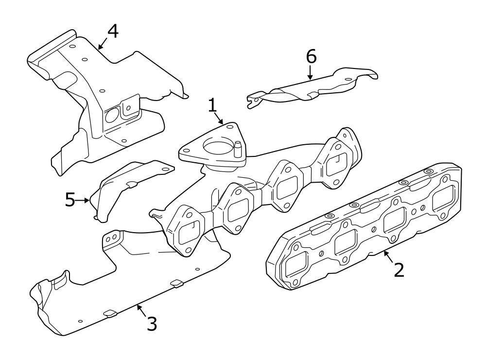 Jaguar XF Exhaust Manifold Heat Shield. Heat shield. Lower