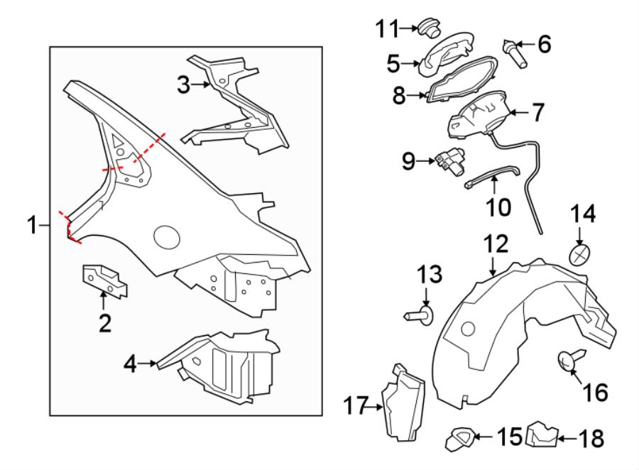 Jaguar XF Fuel Filler Door Lock Actuator. PANEL, QUARTER