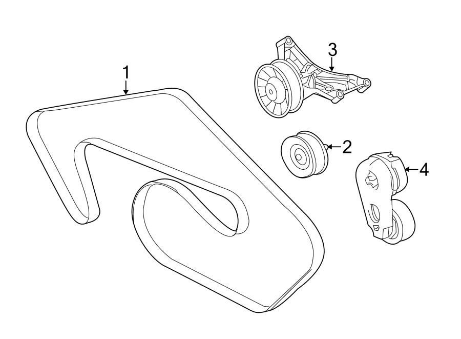 Jaguar XJR Tensioner. Belt. Drive. Accessory assembly