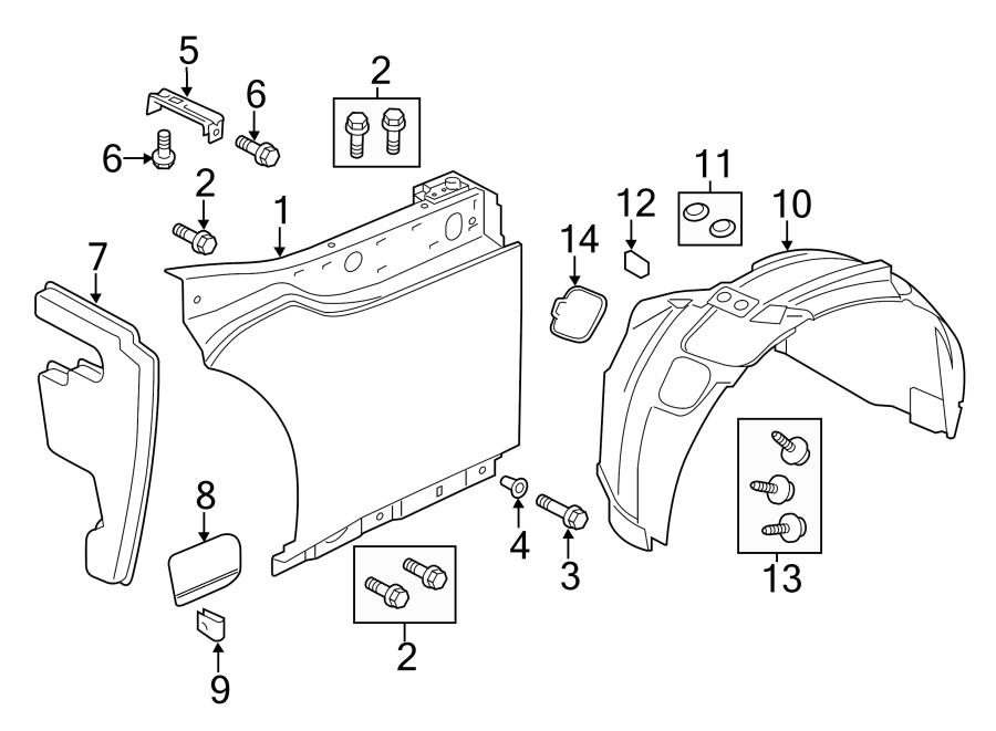Jaguar F-Type Fender Extension Panel Clip (Lower). SVR
