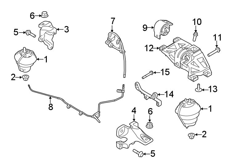 Jaguar F-Type Transmission Crossmember. 2.0 LITER GAS
