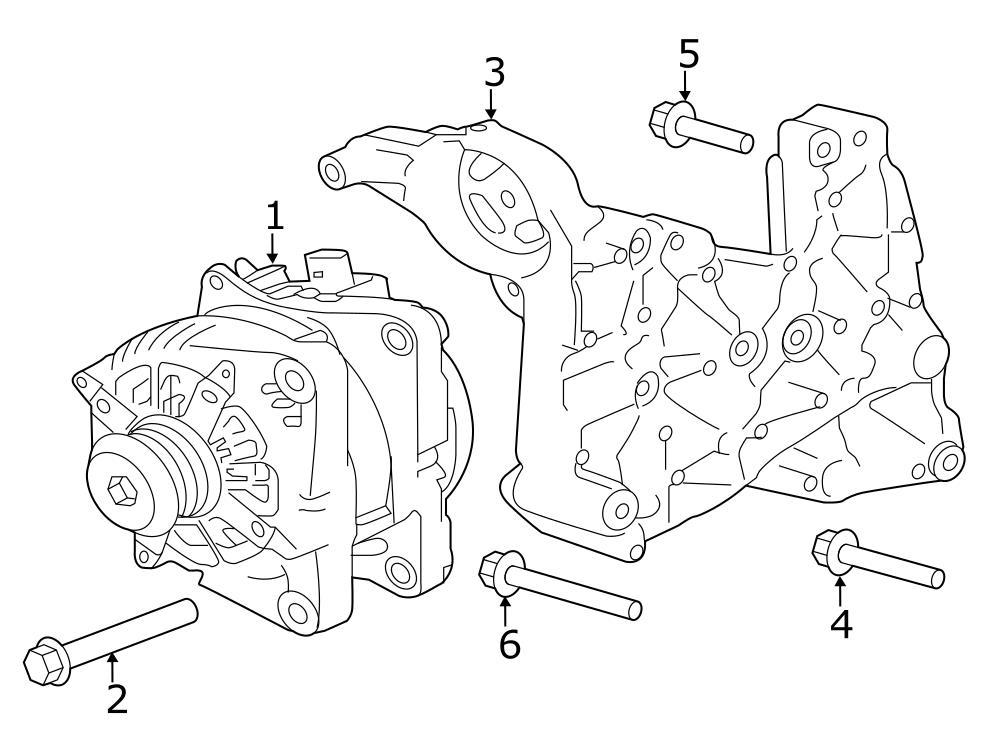 Jaguar XE Alternator Bolt. Mount bracket bolt. GAS