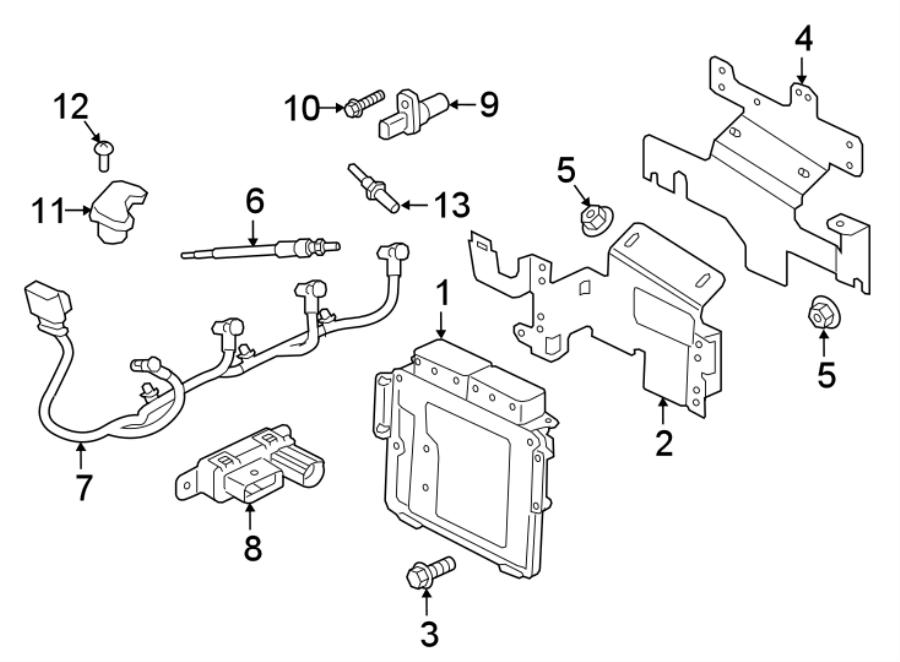Jaguar XE Coolant Temperature Sensor. Cylinder Head