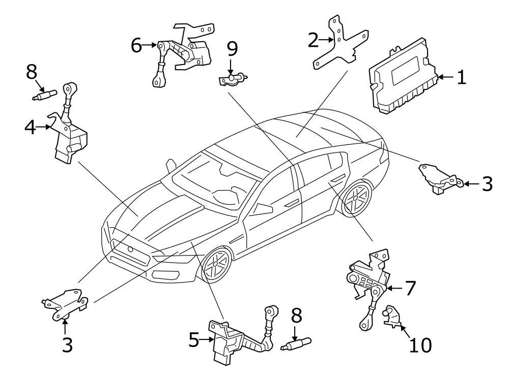 Jaguar XF Height sensor. REAR SENSOR. Suspension Ride