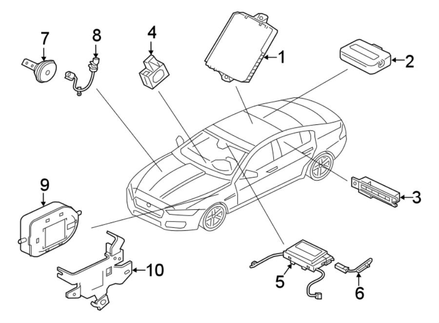 Jaguar XE Anti-Theft Infrared Sensor Connector. Motion