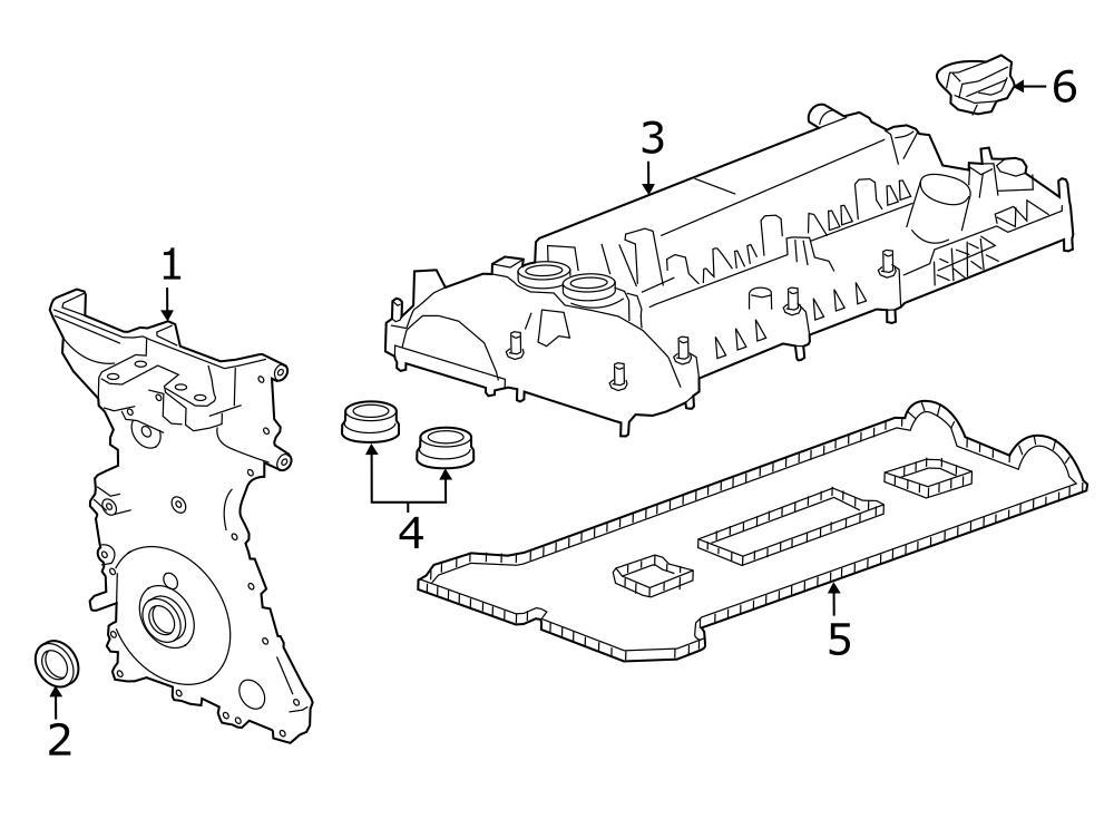 Jaguar XF Valve cover grommet. 2.0L TURBO. ENGINE, TIMING