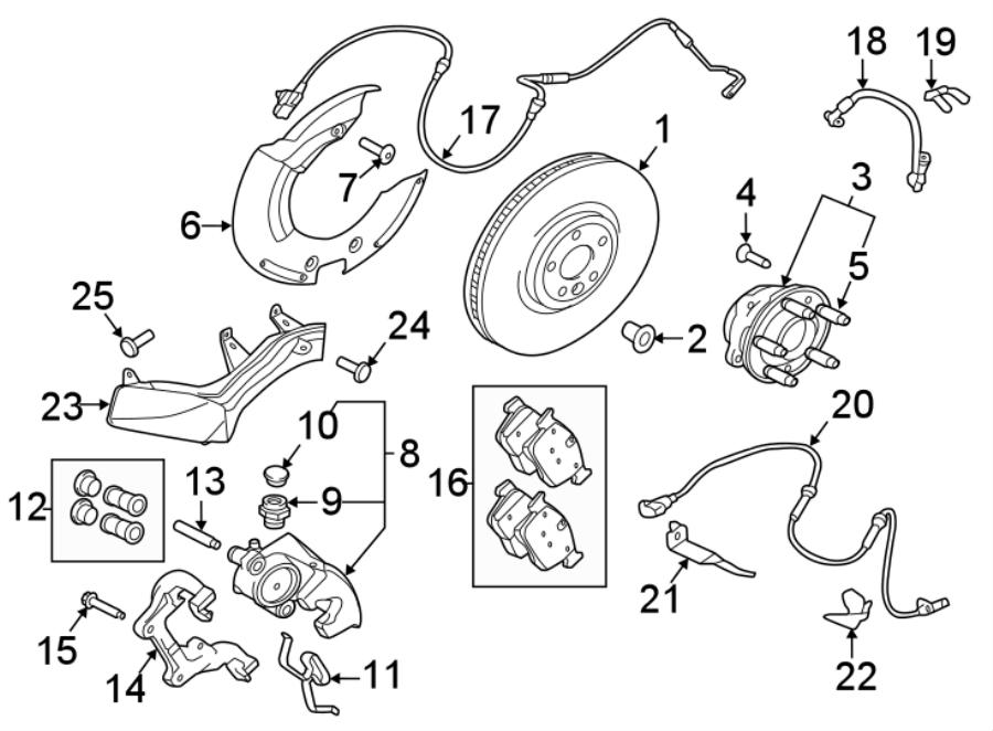 Jaguar XE Brake pad axle s. Brake pads. Disc brake pad set