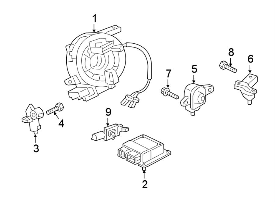 Jaguar XE Air Bag Impact Sensor (Front). SENSORS, MODULES