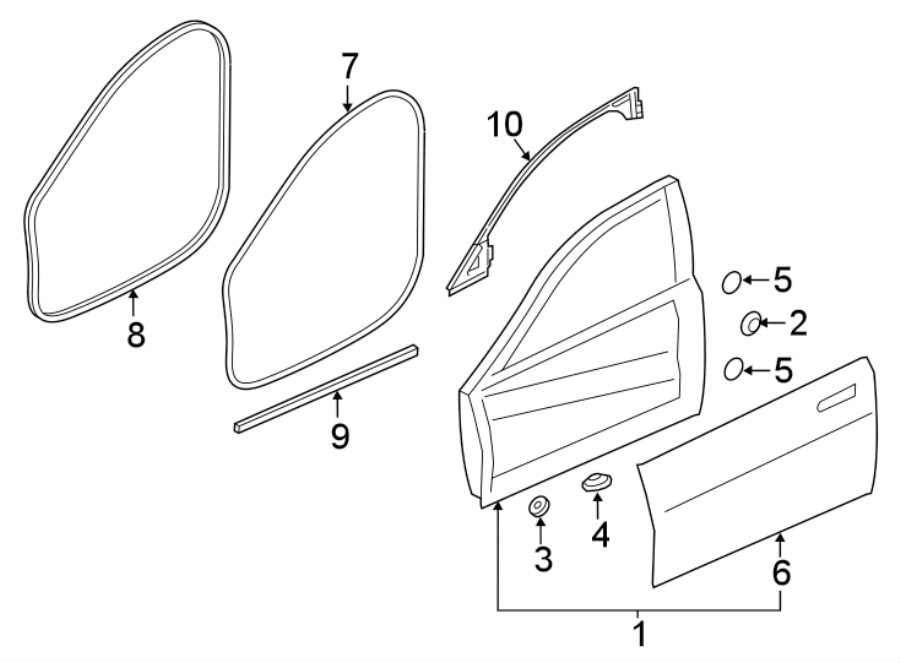 Jaguar XE Door Shell. Door Shell. Outer panel. PANEL