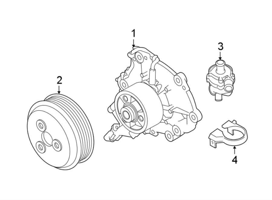 Jaguar XF Engine Water Pump Bracket (Lower). LITER, DIESEL