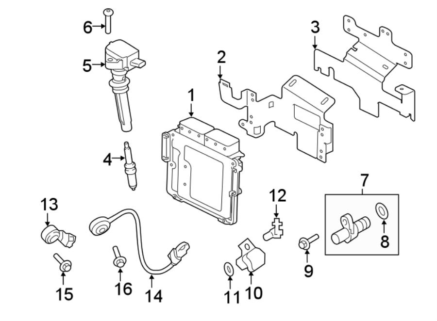 Jaguar F-Pace Engine Camshaft Position Sensor Bolt. 2.0