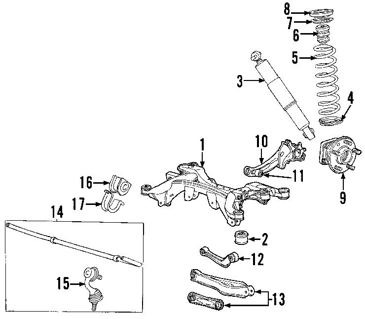 Jaguar X-Type Suspension Trailing Arm. X-Type; Left. Sedan