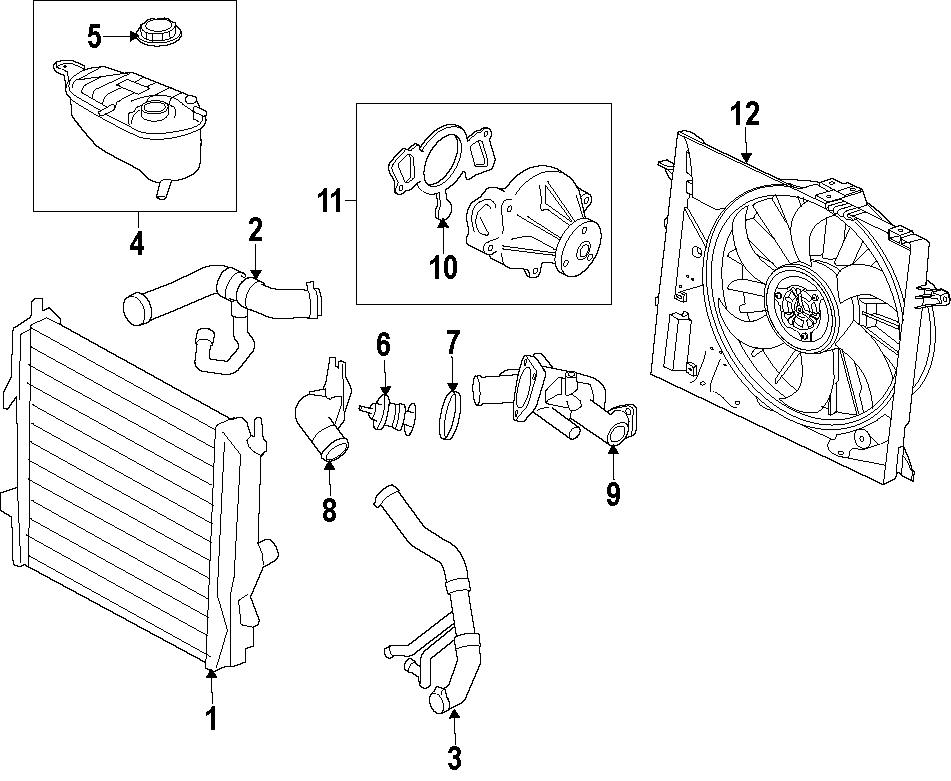 Jaguar XF Engine Cooling Fan Assembly. Radiator