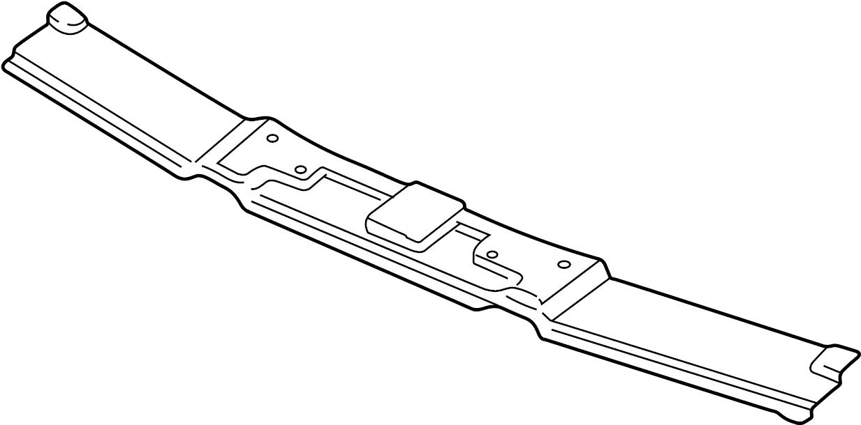 Jaguar XJR Radiator Support Tie Bar (Upper, Lower
