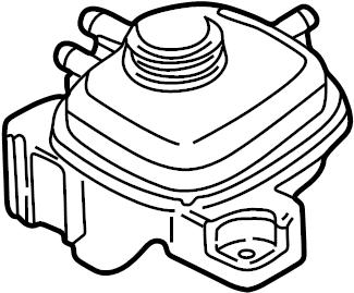 Jaguar XJ8 Engine Coolant Reservoir. Expansion tank