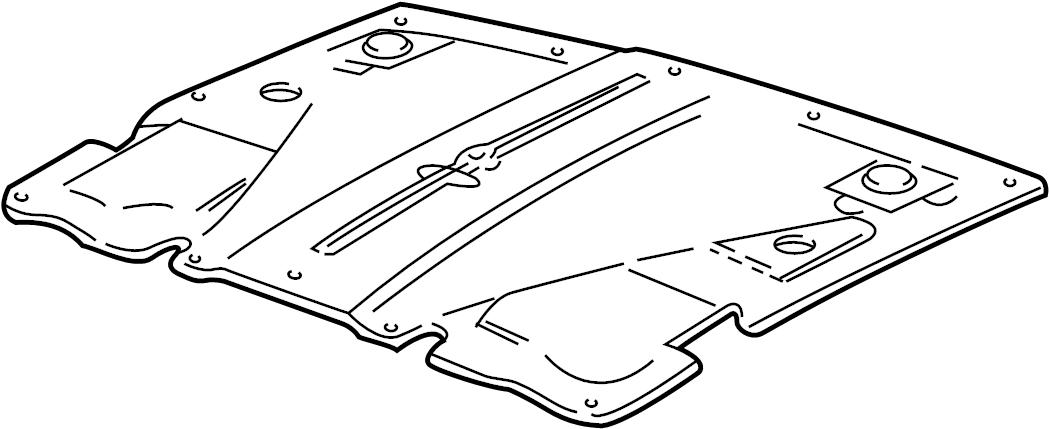 Jaguar XJ8 Hood Insulation Pad. Insulation. COMPONENTS