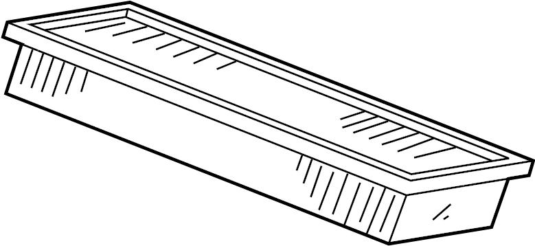 Jaguar XKR Air filter. Element-airclean. Filter. W/o