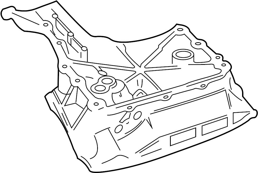 Jaguar Vanden Plas Engine Oil Pan (Upper). Cooler, VIN