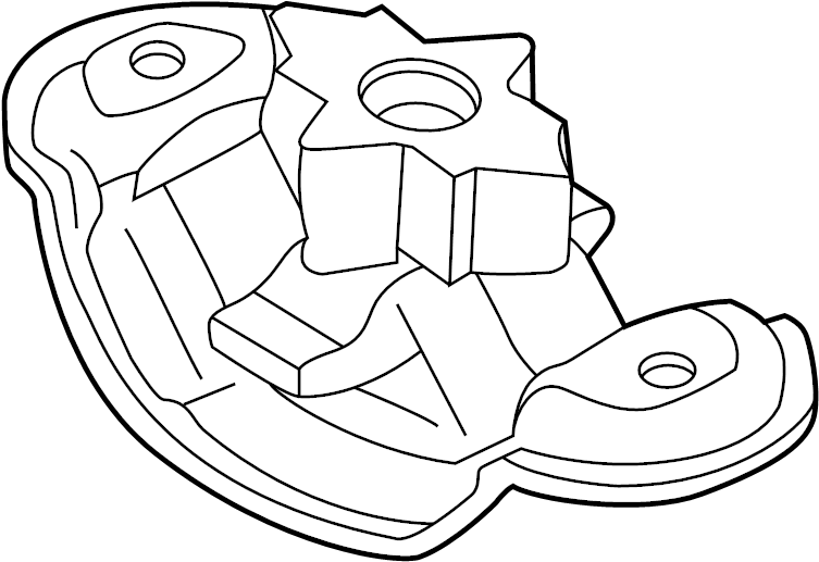 Jaguar XKR Automatic Transmission Mount Spacer (Lower