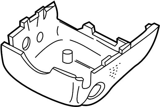 Jaguar Super V8 Steering Column Cover (Lower). Antelope