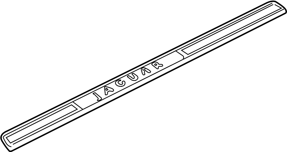 Jaguar XJ8 Door Trim Sill Plate Insert. Rear, w/o long