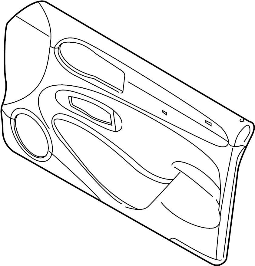 Jaguar XJ8 Door Interior Trim Panel. Cashmere