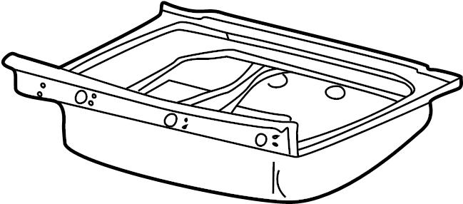 Jaguar XJ8 Panel. (Front, Rear). Floor, RAILS, Left