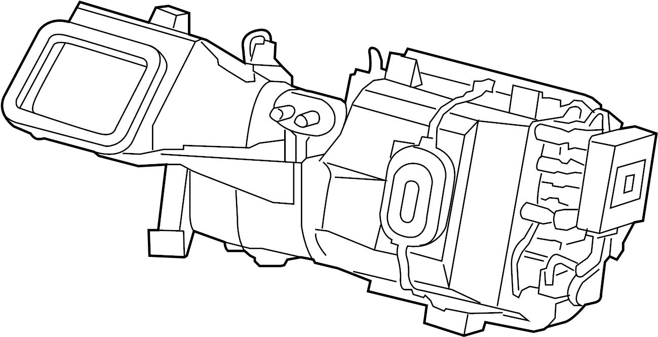Jaguar Vanden Plas Blower-evaporato. Evaporator assy