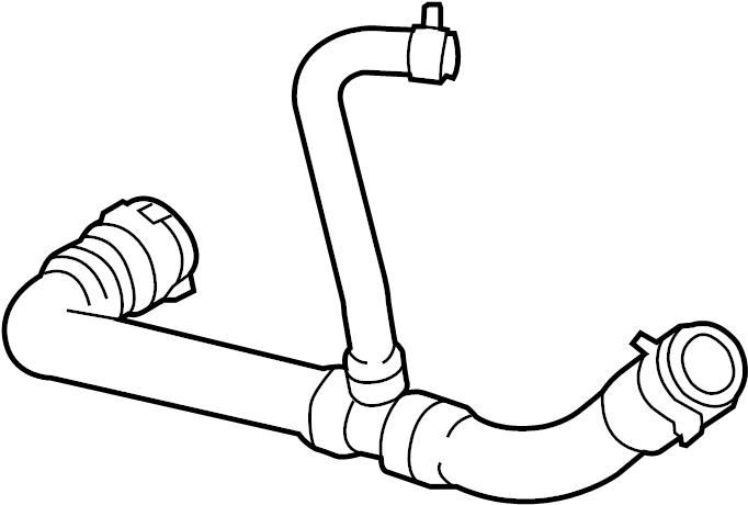 Jaguar Vanden Plas Hvac heater hose assembly. Front, cntrl