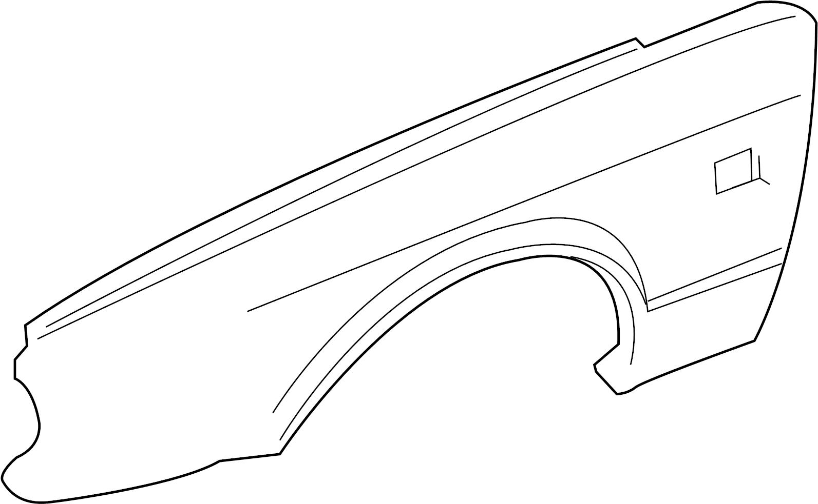 Jaguar XJR Fender. Front Left; w/o Super V8. COMPONENTS