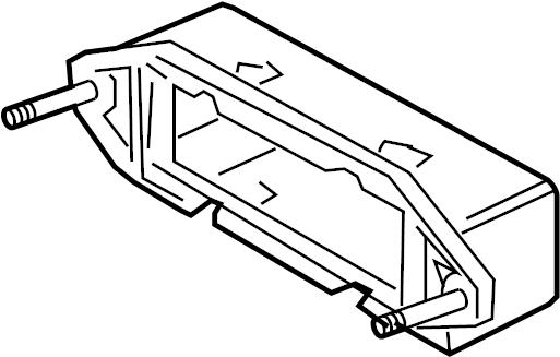 Jaguar XJ8 Bracket-module. Mount bracket. Automatic